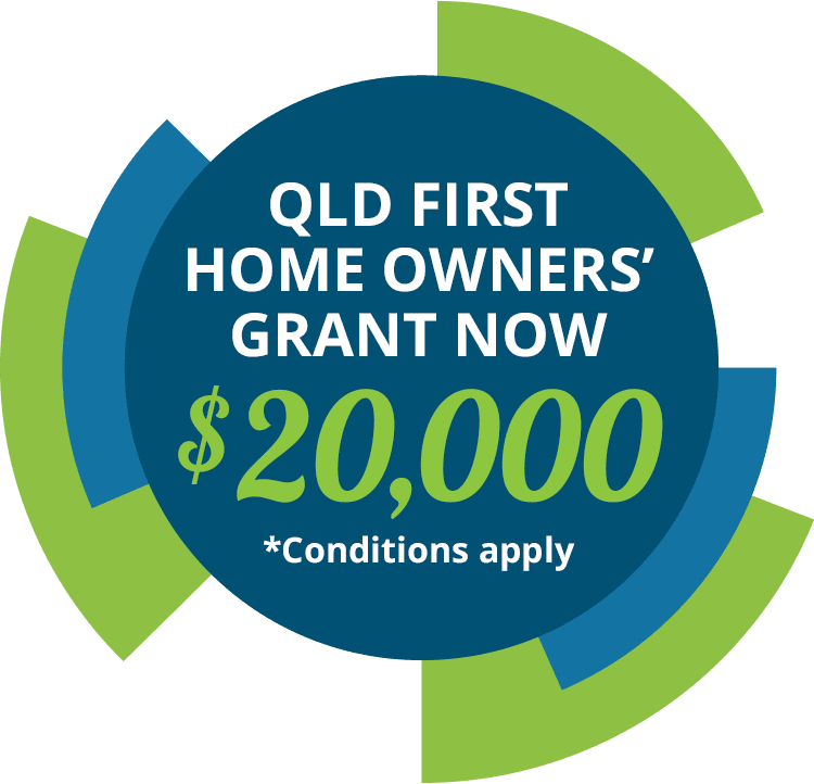 QLD FIRST HOME OWNERS' GRANT NOW $20,000 *Conditions apply